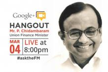 Read transcript of Chidambaram's Google+ Hangout