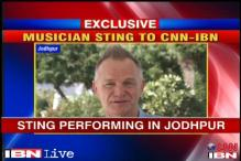 Musician Sting performs in Jodhpur for a cause