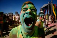 Snapshot: Holi in Cape Town with cornflour powder