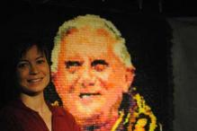 Snapshot: Portrait of Pope Benedict XVI made with 17,000 condoms