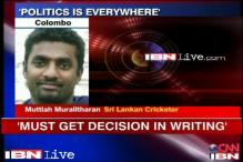 Politics is everywhere, feels Muttiah Muralitharan