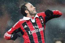 AC Milan forward Pazzini ruled out of Barcelona clash