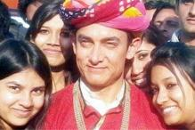 On the sets of 'P.K': Aamir Khan and Sanjay Dutt in Rajasthani avatar