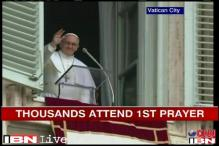 Thousands gather at St Peter's Square to hear Pope's first Angelus