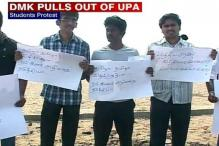 Chennai: Students stage protest at Marina beach against Lankan war crimes