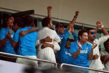 Dhoni and his boys celebrate 4-0 triumph at the F1 track