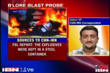 Bangalore blast probe: Forensic report to be submitted today