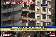 Thane building collapse: Police arrest two builders