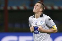 Denis' hat-trick in 12 minutes helps Atalanta floor Inter