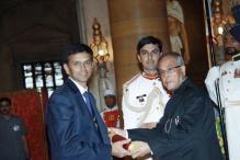 Rahul Dravid receives Padma Bhushan