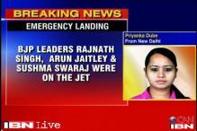 Jet carrying Rajnath, Sushma makes emergency landing