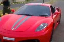 Father arrested for allowing his minor son to drive Ferrari