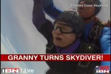 Watch: 90-year-old granny celebrates her birthday by skydiving