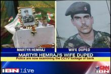 Slain soldier Hemraj Singh's wife duped of Rs 10 lakh
