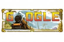Google doodles 160 years of India's first passenger train journey