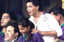 Shah Rukh Khan, his daughter Suhana and son Aryan cheer for KKR in Kolkata