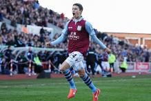 Aston Villa beat Stoke 3-1 with two late goals