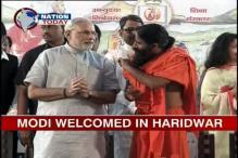 Ramdev praises Modi, shares stage with him in Haridwar