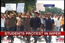 NIPER students protest against alleged corruption by administration