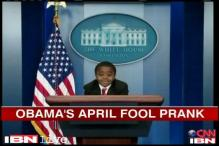 Watch: Obama lets an 8-year-old take his place as April Fool's joke