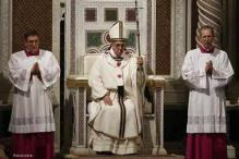 Pope installed as bishop of Rome, appeals to lapsed faithful