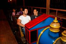 Snapshot: Salman Khan spotted riding a roller coaster