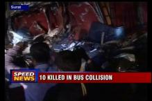 Surat: Ten bus passengers dead in collision with container