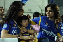 Snapshot: Cute! Viaan Raj Kundra's first public outing at the IPL