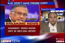 A-G Vahanvati issues clarification on CBI's coal scam report