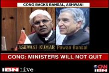 Cong says Ashwani, Bansal won't go even as BJP builds pressure