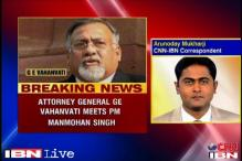 Under fire over coal scam report, Vahanvati meets PM