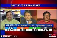 Karnataka polls: Congress inching towards majority, BJP dented by BSY exit
