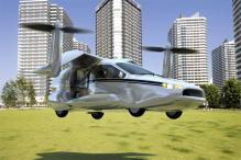 Watch: A four-seater flying car