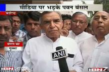 Pawan Kumar Bansal loses cool with reporters