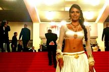 Cannes 2013: Sherlyn Chopra wears a white 'lehenga' on the red carpet