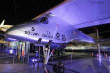 Solar-powered plane wraps first leg of flight across US