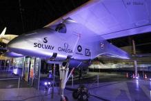 Solar-powered plane wraps first leg of flight across US