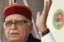 Banners showing LK Advani in pensive mood removed from city