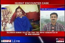 Inputs on Ishrat were based on LeT intercepts: Rajinder Kumar to CBI