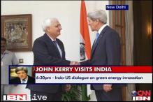 US Secretary John Kerry meets Salman Khurshid