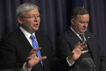Kevin Rudd sworn in as Australian Prime Minister after overthrowing Julia Gillard