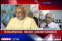 Modi doesn't know what's happening outside Gujarat: Khurshid