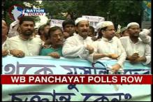 Muslims protest holding of WB panchayat polls during Ramazan