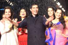 Ameesha Patel, Dia Mirza, Neha Dhupia walk the ramp for Manish Malhotra