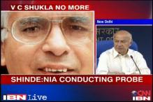 Naxal attack: Condole the death of VC Shukla, NIA probing case, says Shinde