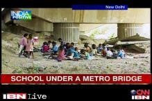 Delhi: Shopkeeper runs school for street children under a Metro bridge