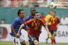 World champions Spain tested by Haiti in a 2-1 win