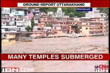 Watch: Many temples submerged in Rishikesh