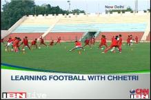 Chhetri hopes that India will host the under-17 football WC