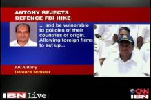 AK Antony rejects proposal to hike FDI in defence to 49 pc